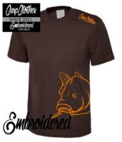 008 EMBROIDERED CARP  T-SHIRT